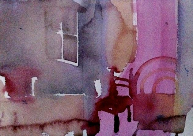 mitt rom: akvarell - 2013 - 20x30
