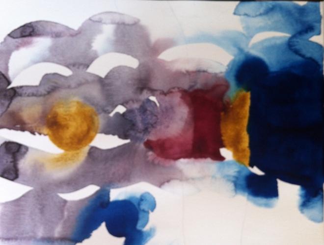 Pianisten øver på etyder, akvarellmaleren på pigmentprøver!